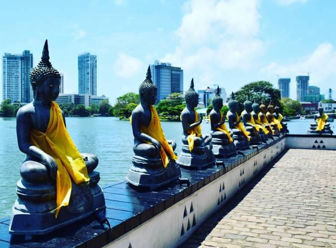 Templo budista em Colombo, Sri Lanka