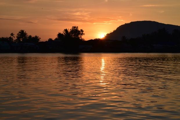 Coucher du soleil à Kampot