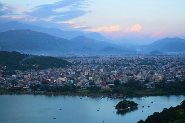 Vue de la ville de Pokhara
