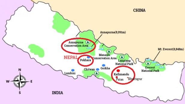 Itinéraire au Nepal